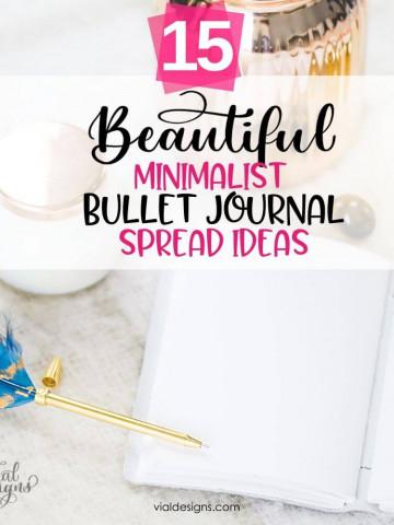 15 Beautiful Minimalist Bullet Journal Spread Ideas_Featured Image