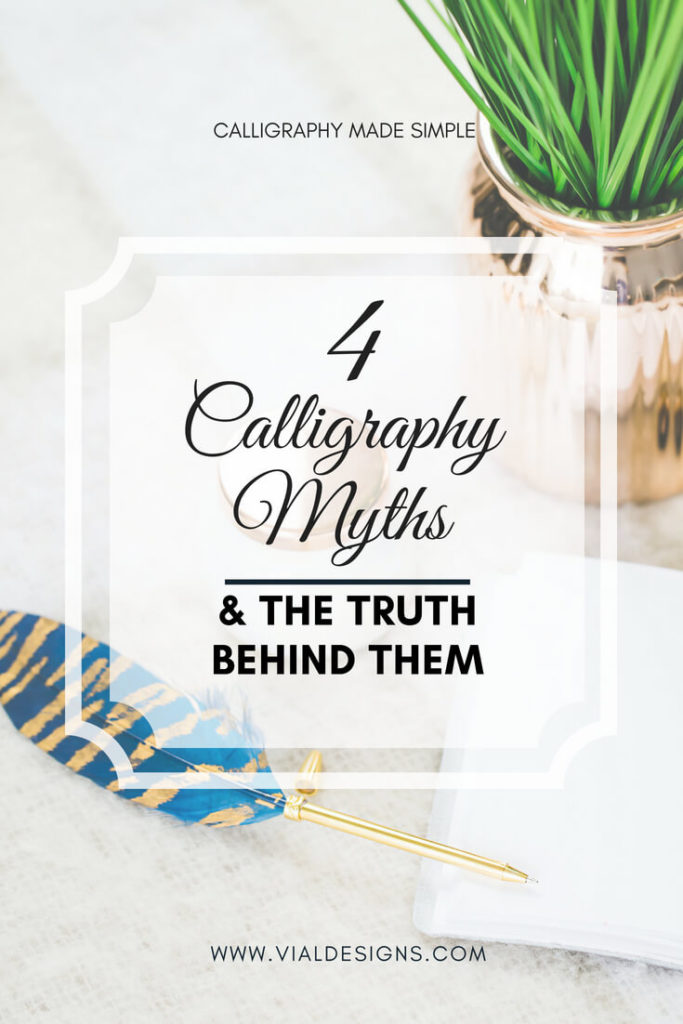 Calligraphy Myths Debunked | Calligraphy Myth | Calligraphy lies you need to stop believing