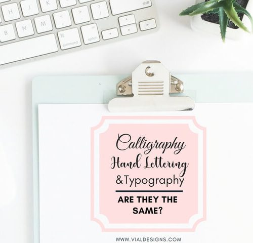Calligraphy, hand lettering, and typography, are they the same?