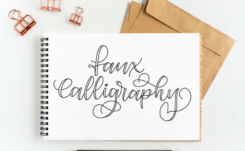 Learn How to Make Faux Calligraphy | Step by step calligraphy tutorial by Vial Designs | Easy to follow tutorial to learn calligraphy and hand lettering