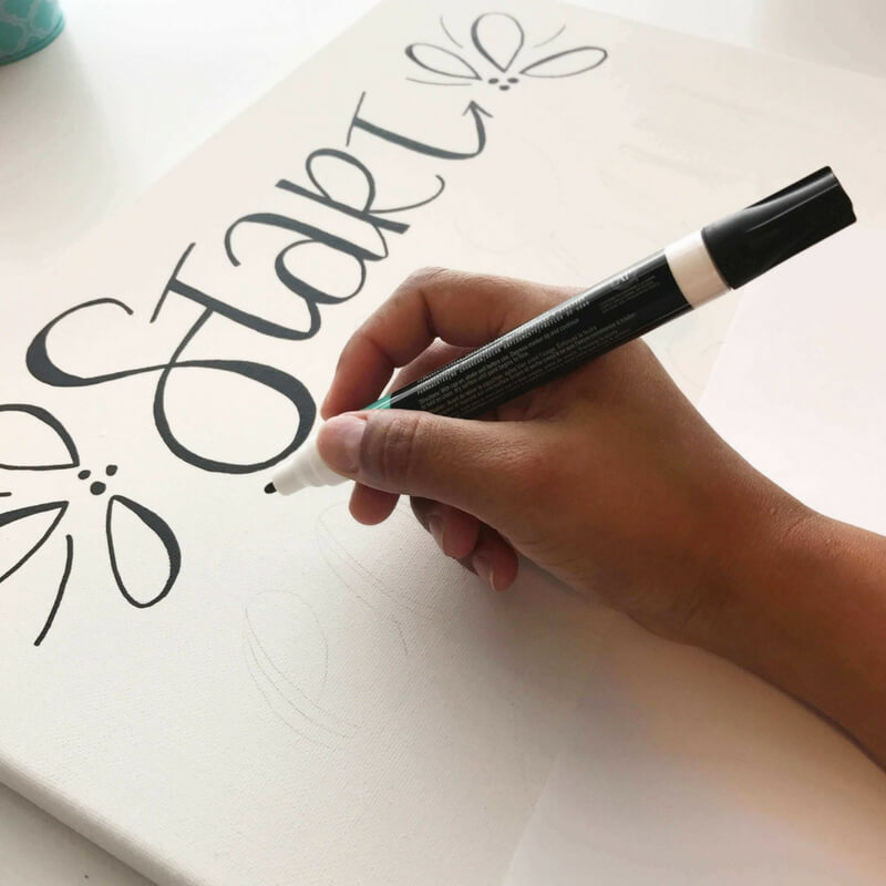 3 REASONS WHY YOU NEED TO LEARN FAUX CALLIGRAPHY_Canvas faux calligraphy