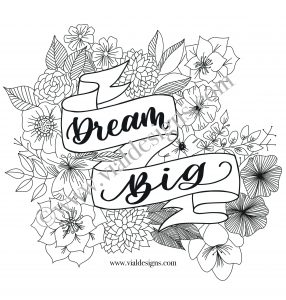 Dream Big Printable by Vial Designs_How to Foil Your Art DIY Tutorial