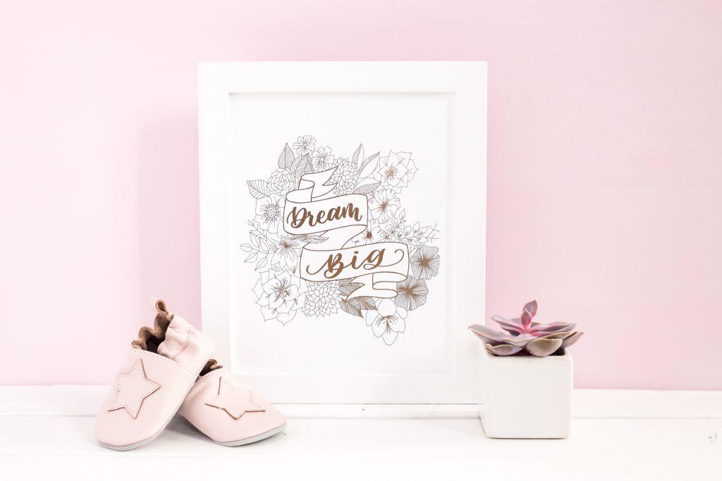 How to foil art prints - DIY Tutorial   How to make gold foil prints By Vial Designs   Framed Foiled Print