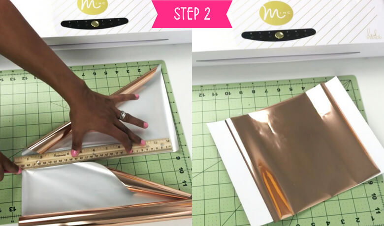 How to foil art prints - DIY Tutorial | How to make gold foil prints By Vial Designs | Step 2_Cut the foil sheet