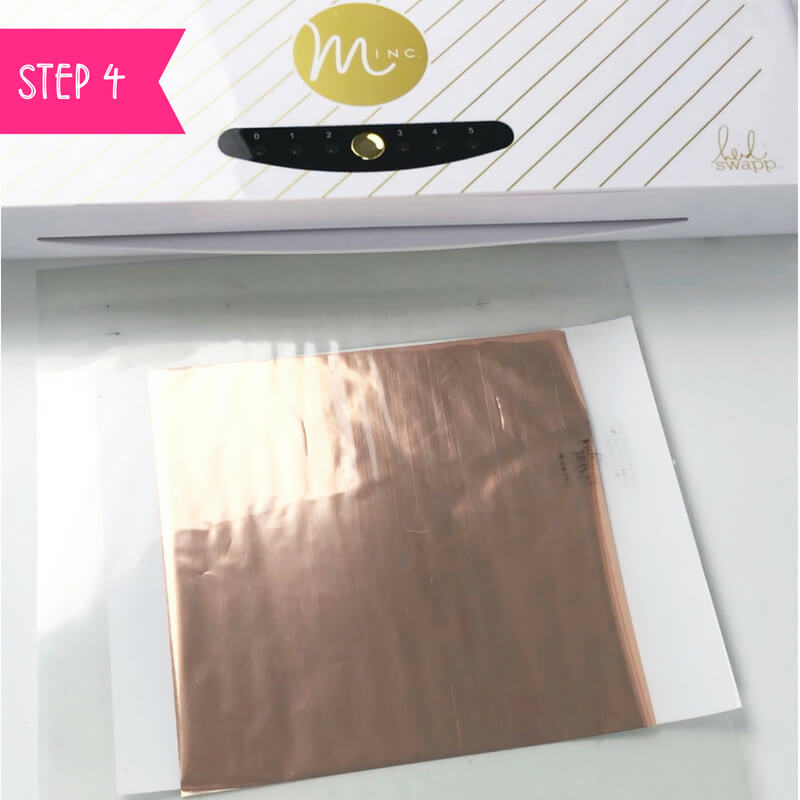 How to foil art prints - DIY Tutorial | How to make gold foil prints By Vial Designs | Step 4