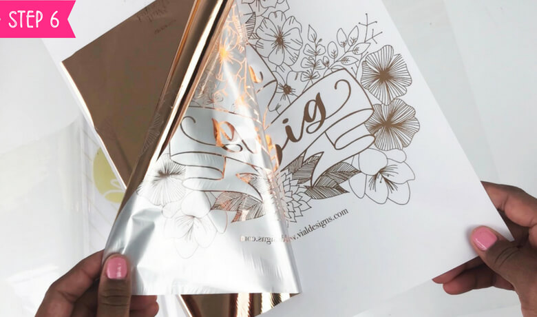 How to foil art prints - DIY Tutorial | How to make gold foil prints By Vial Designs | Step 6