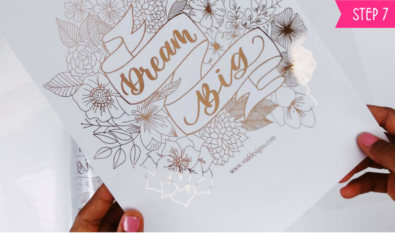 How to foil art prints - DIY Tutorial | How to make gold foil prints By Vial Designs | Step 7