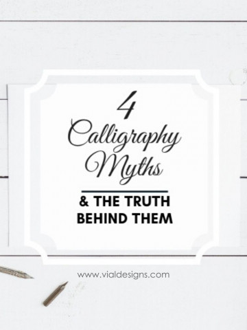4 Calligraphy Myths Debunked   4 Calligraphy Myths and truth behind them   Calligraphy lies you need to stop believing