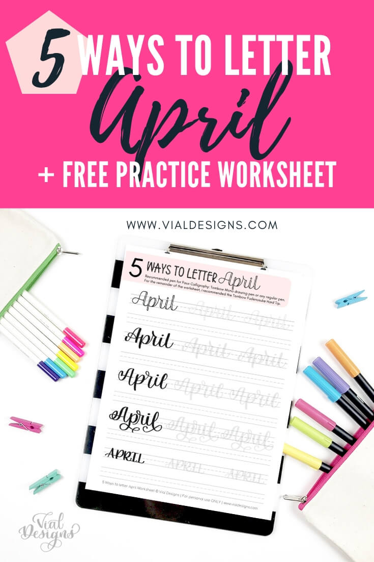 5 Ways to Letter April Tutorial by Vial Designs