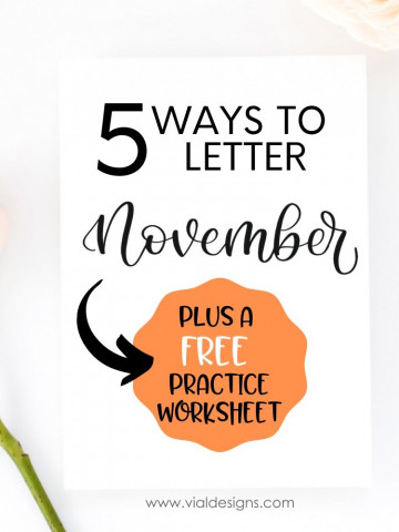 5 Ways to Letter November Featured Image