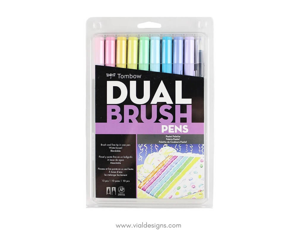 Best Brush Calligraphy Supplies for beginners_Tombow Dual Brush Pens