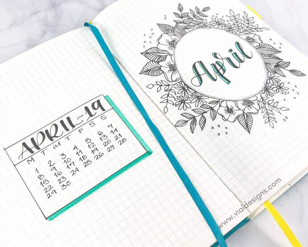 April 2019 Cover Page and Calendar Page