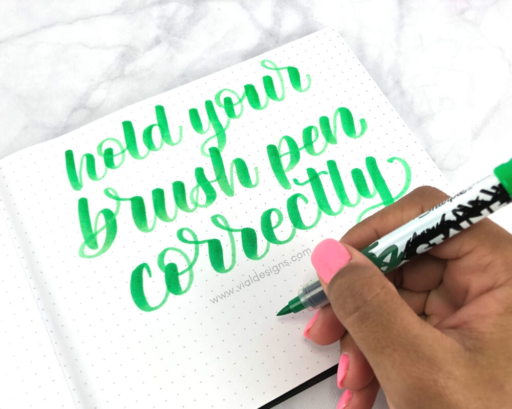 Calligraphy Practice Tip 3 Hold your brush pen correctly