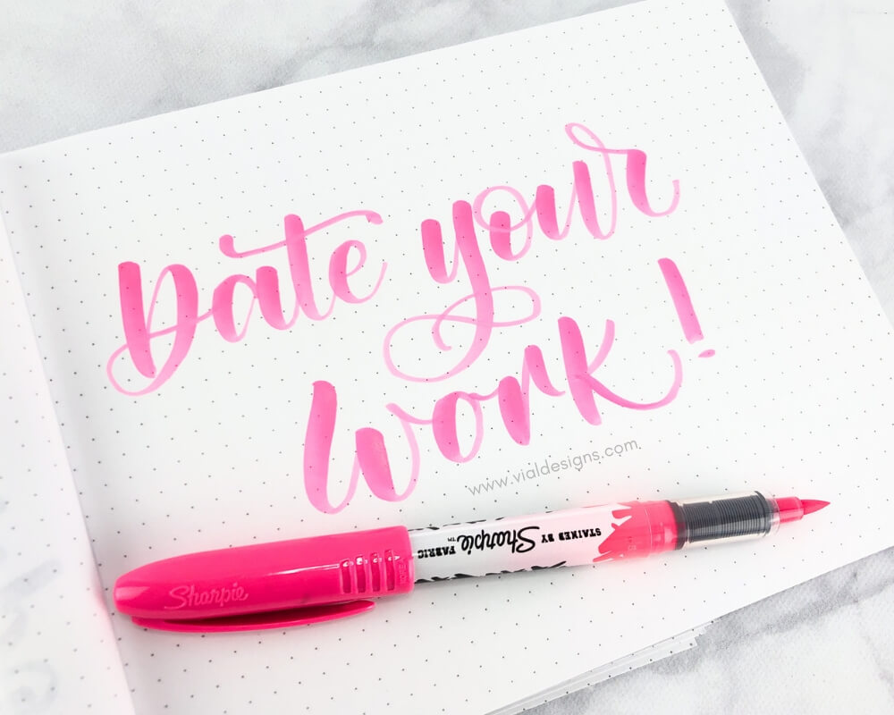 Calligraphy Practice Tip 6 Date your work