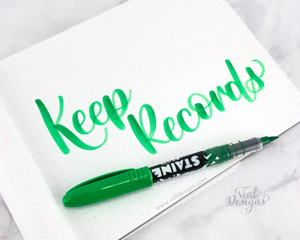 Calligraphy Practice Tip 7 Keep records of your work