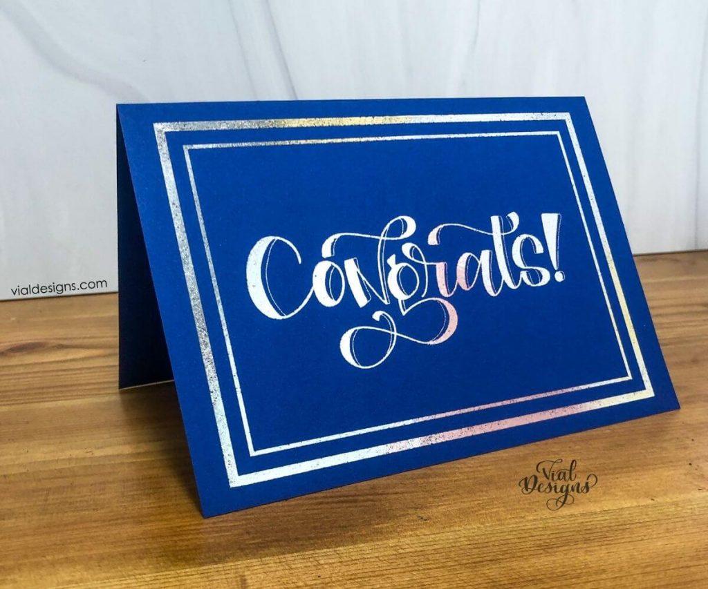 Congrats foil card featured image