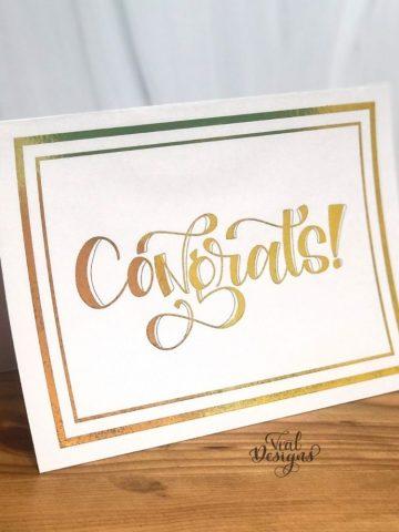 Congrats gold foil card DIY tutorial