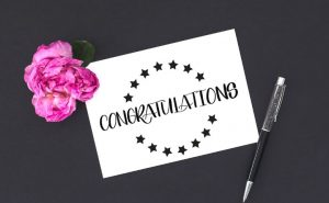 Congratulations Card done with Block lettering by Vial Designs