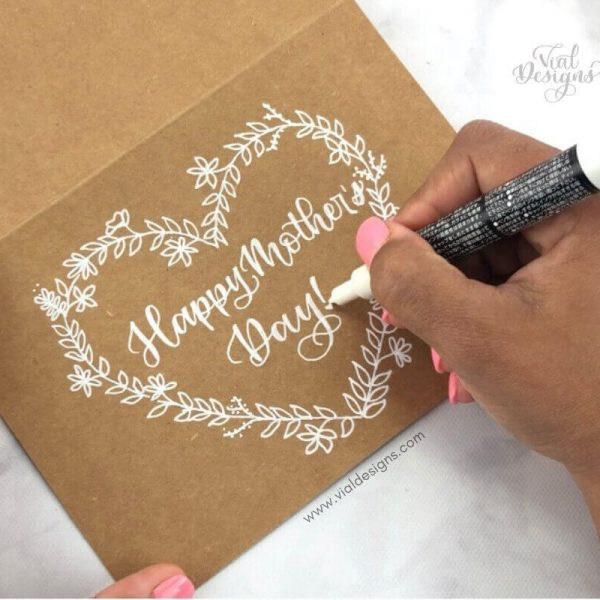 BEAUTIFUL AND EASY MOTHER'S DAY DIY CARD