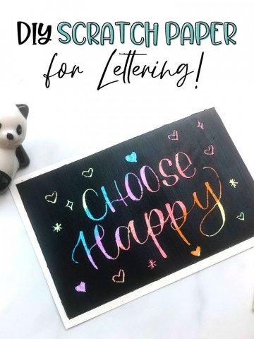 DIY scratch paper for lettering tutorial featured image