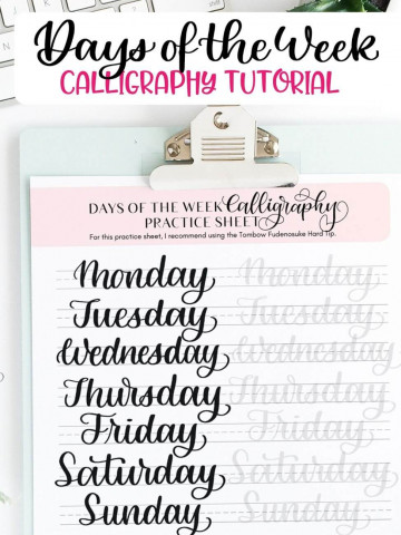 Days of the Week Tutorial and Free Worksheet Featured Image