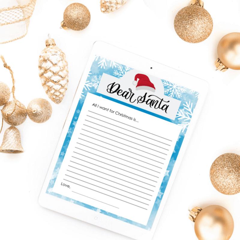 Free Printable Dear Santa Letter_Vial Designs | Free Christmas Printable | Free Printable