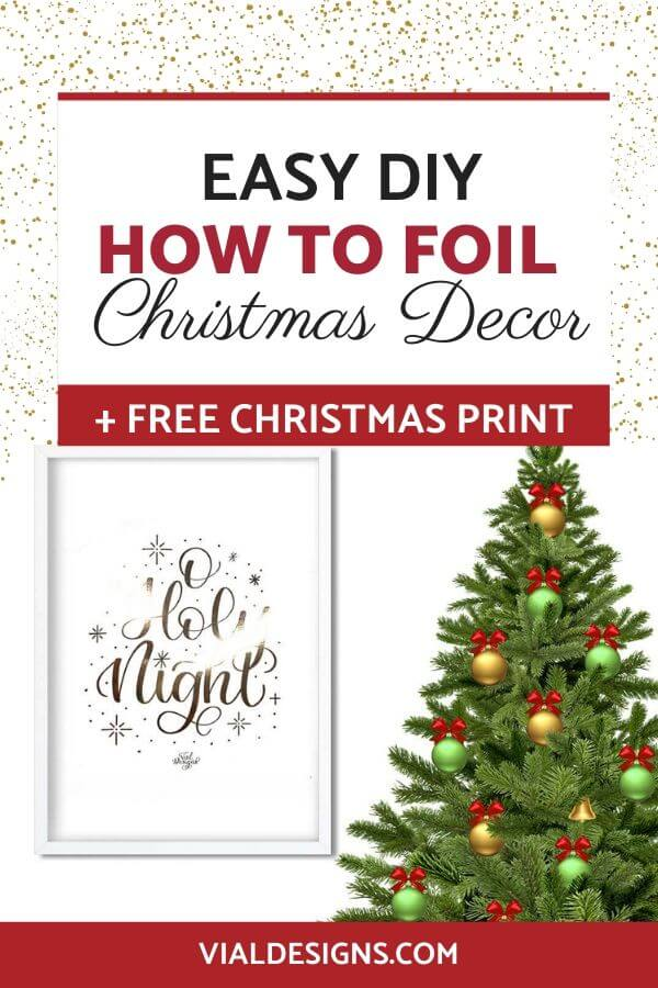Easy DIY How to Foil Christmas Prints by Vial Designs