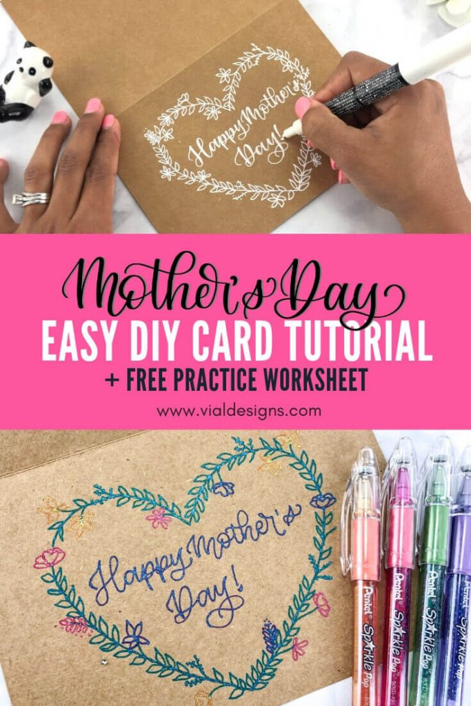 Easy Mother's Day DIY Card Tutorial in 2 Different Styles