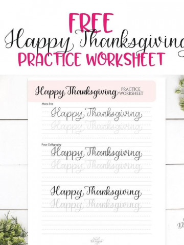 Free Practice Worksheet for Thanksgiving by Vial Designs