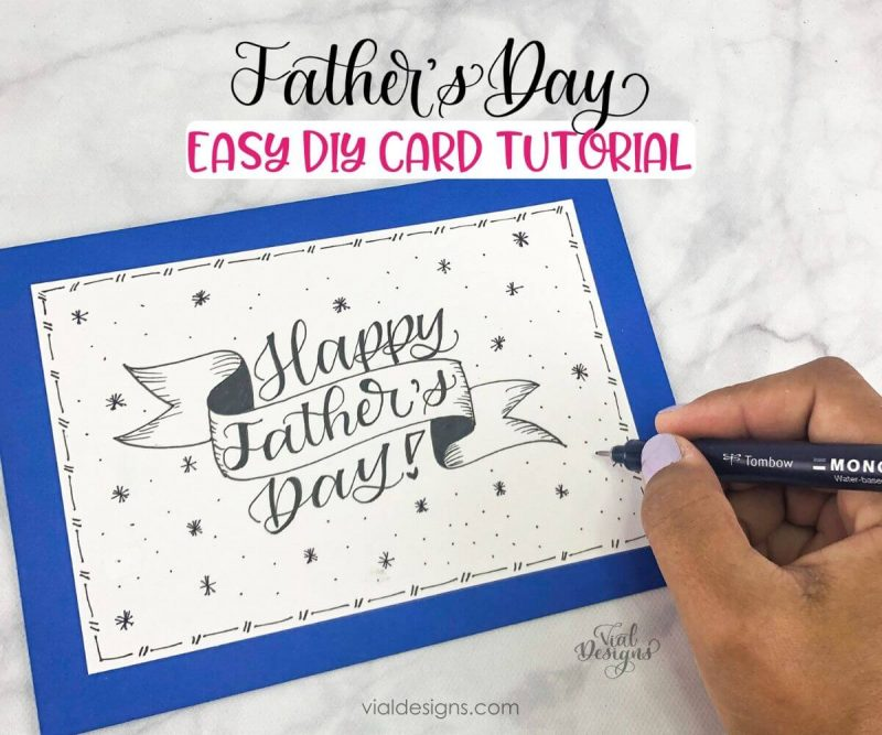 Father's Day DIY Card with embellishments