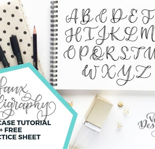 Faux Calligraphy Tutorial Uppercase letters   Learn how to make beautiful letters today by Vial Designs