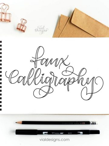 Calligraphy with a Regular Pen Featured image