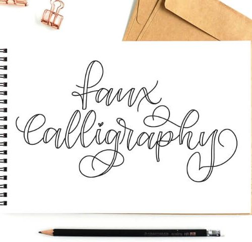 Faux Calligraphy_Learn how to make beautiful letters today by Vial Designs