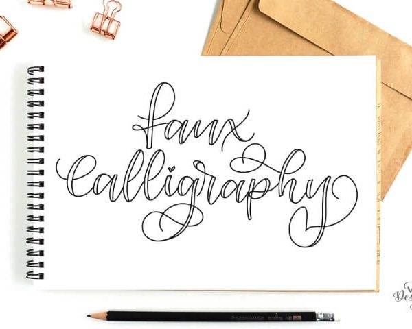 FAUX CALLIGRAPHY TUTORIAL + FREE CALLIGRAPHY WORKSHEET