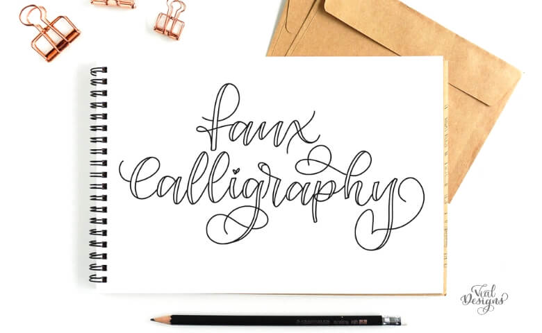 Faux Calligraphy Tutorial Free Faux Calligraphy Worksheet Vial Designs