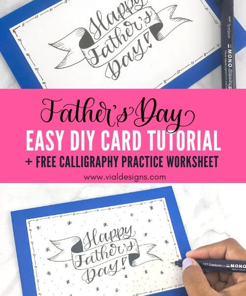 Final Father's Day DIY Card with embellishments