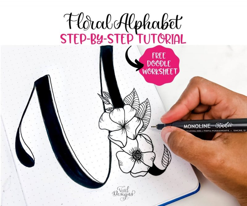 Floral Alphabet Step-by-Step Tutorial Featured Image