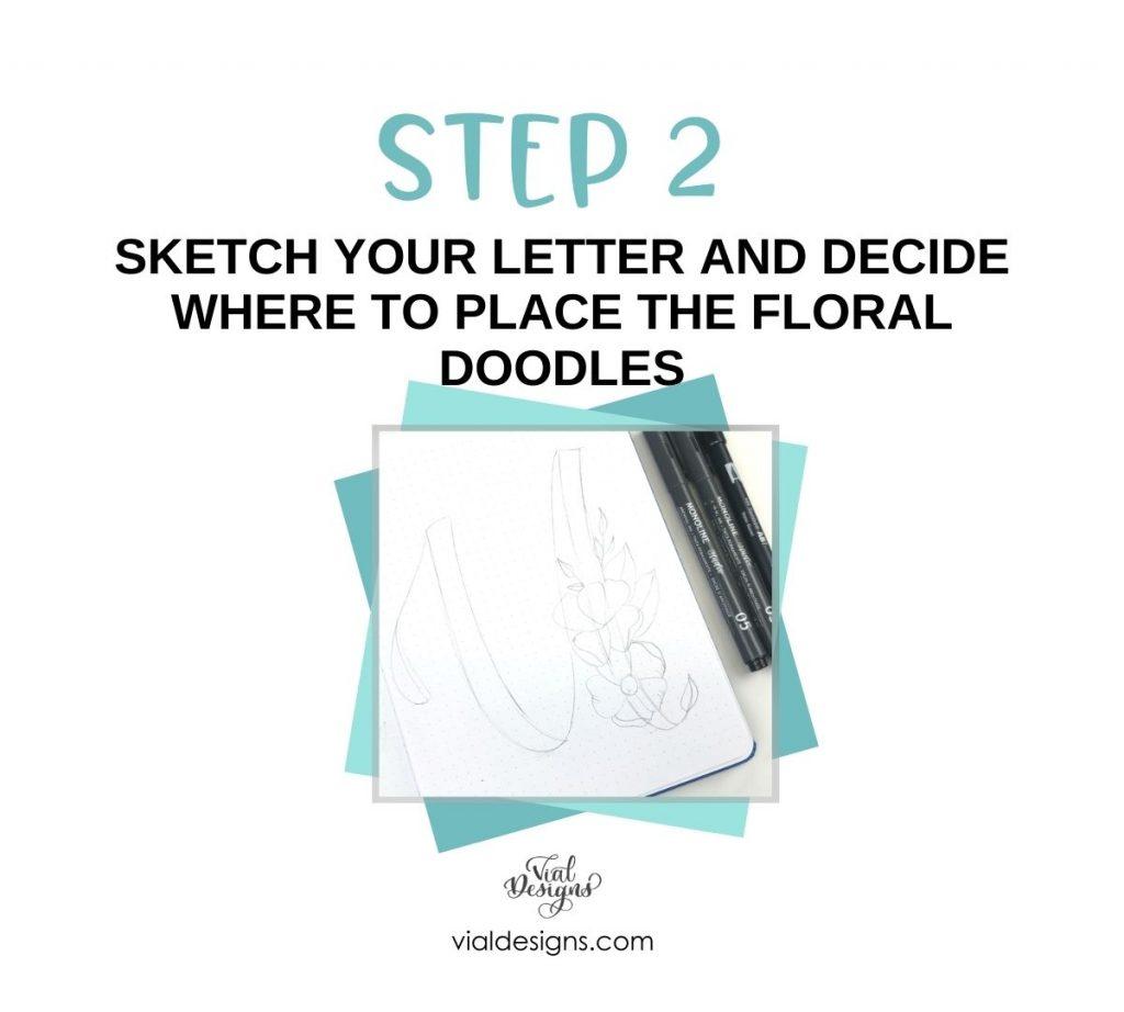 Floral alphabet tutorial_Step2