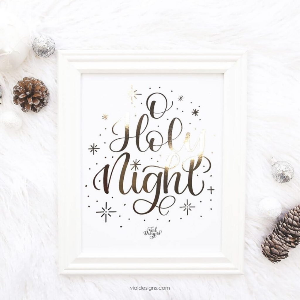 Foiled Christmas Print Displayed by Vial Designs