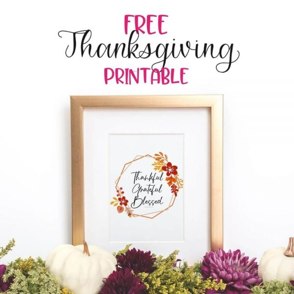Free Thanksgiving Printable Featured Image