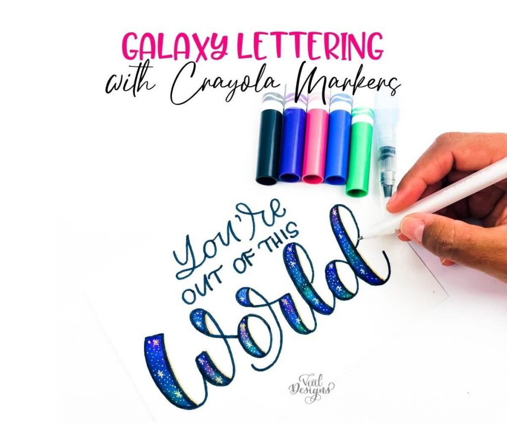 Galaxy Lettering with Crayola Markers Featured Image