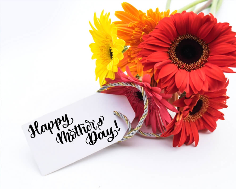 Happy Mother's Day DIY modern calligraphy gift tag by Vial Designs