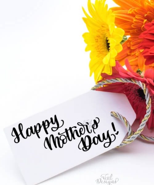 HAPPY MOTHER'S DAY FREE CALLIGRAPHY WORKSHEET