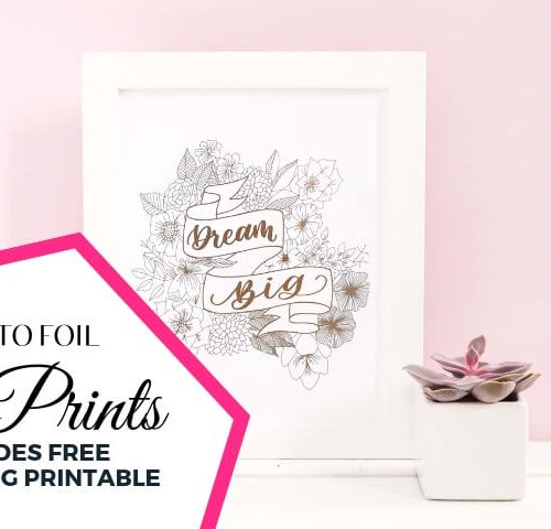 How to Foil Art Prints DIY Tutorial by Vial Designs