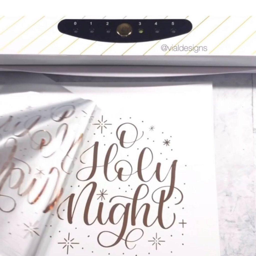 How to Foil Christmas Prints Step 6
