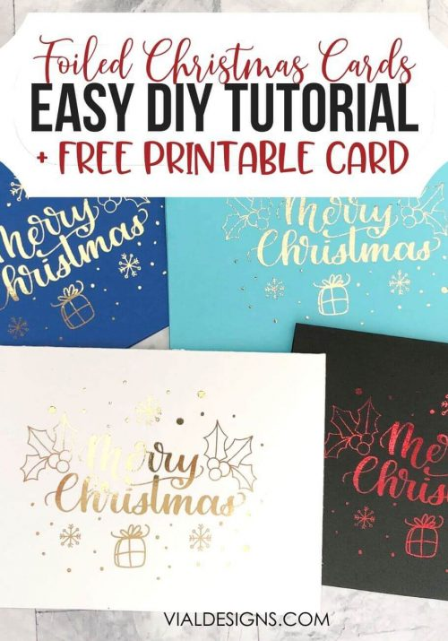 How to foil Christmas Cards Tutorial by Vial Designs