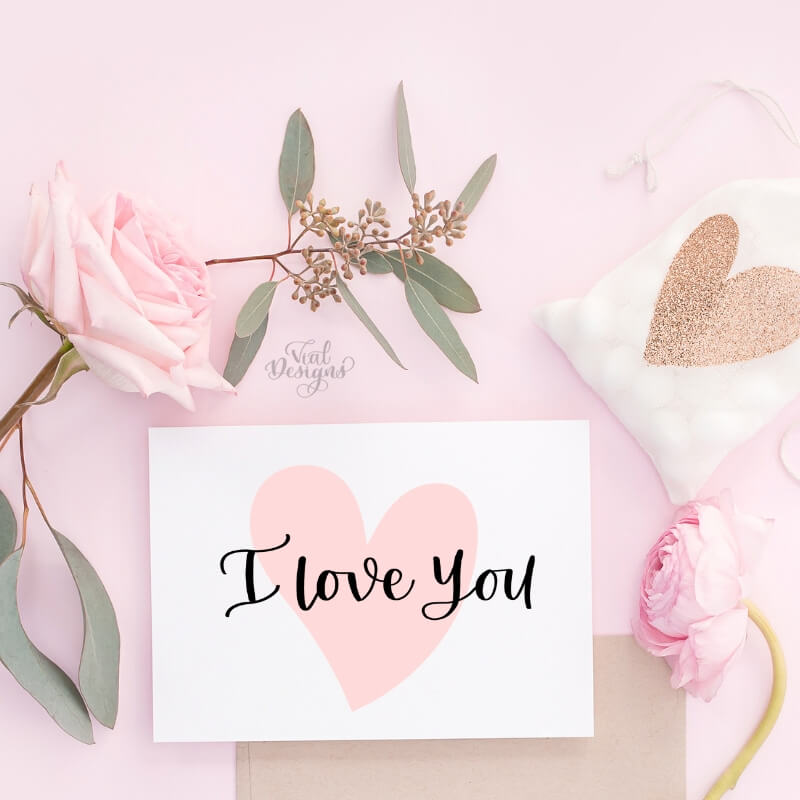 How to letter I love you in calligraphy by Vial Designs | 3 Different ways to letter I love you | How to write I love you in calligraphy | Three different ways to write I love you in Calligraphy | Free Calligraphy Practice Sheet | Free I love you calligraphy practice sheet
