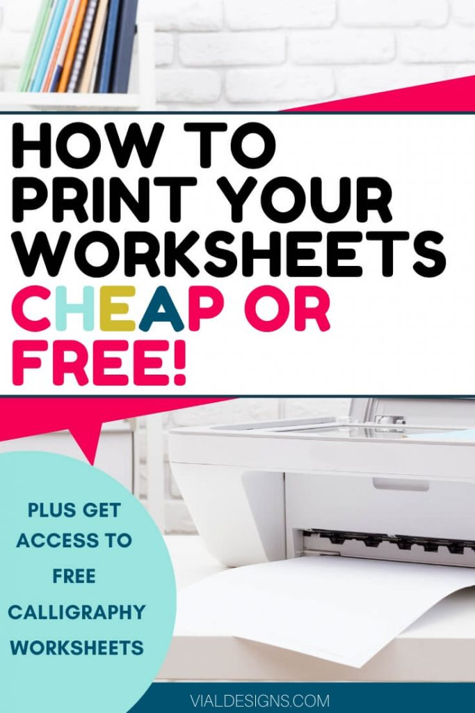 How to print calligraphy worksheets affordably with Instant Ink