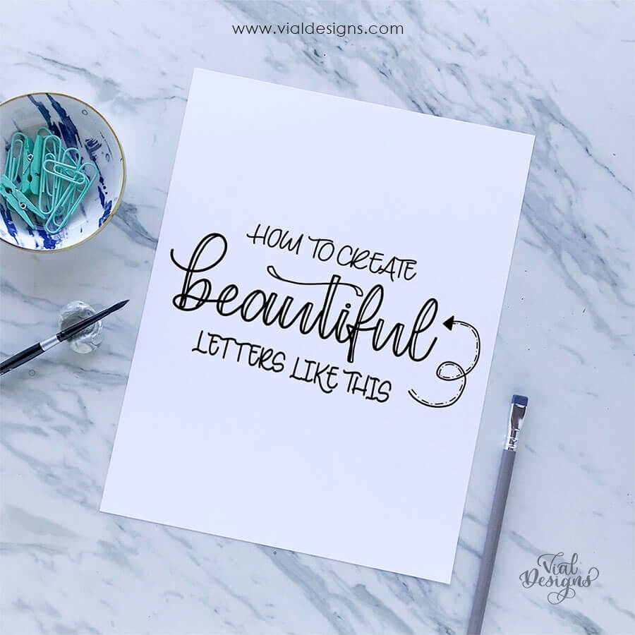 Learn how to make beautiful letters | Modern Calligraphy Workbook