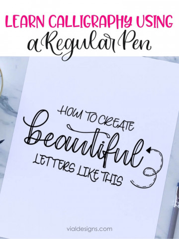 Learn how to make beautiful letters - faux calligraphy